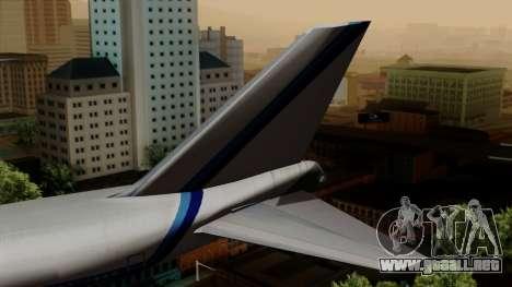 Boeing 747 Eastern para GTA San Andreas vista posterior izquierda