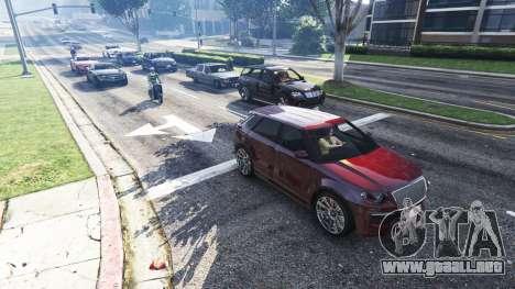 GTA 5 Realista, llenando las calles y carreteras 4GBRA segunda captura de pantalla