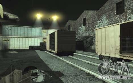 Automotriz depósito de chatarra v0.1 para GTA San Andreas séptima pantalla
