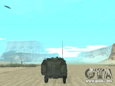 El APC 40 para vista inferior GTA San Andreas