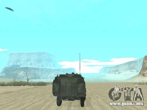 El APC 40 para vista inferior GTA San Andreas