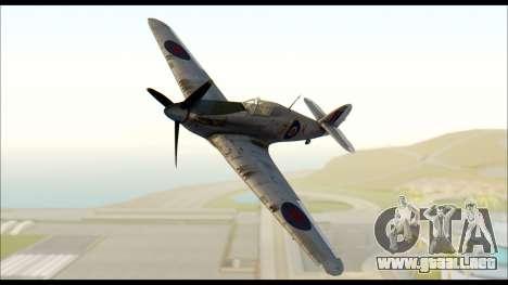 Hawker Hurricane MK IA para GTA San Andreas