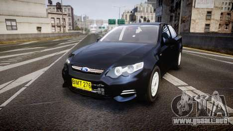 Ford Falcon FG XR6 Unmarked NSW Police [ELS] para GTA 4