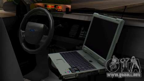 Police LV 2013 para GTA San Andreas vista hacia atrás