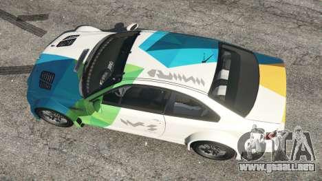 GTA 5 BMW M3 GTR E46 PJ1 vista trasera
