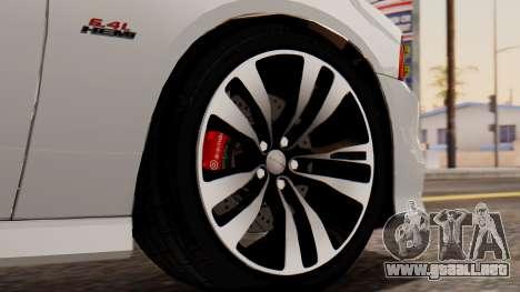 Dodge Charger SRT8 2012 LD para GTA San Andreas vista posterior izquierda