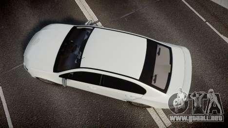 Ford Falcon FG XR6 Turbo Unmarked Police [ELS] para GTA 4 visión correcta