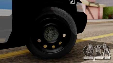 Police LV 2013 para GTA San Andreas vista posterior izquierda