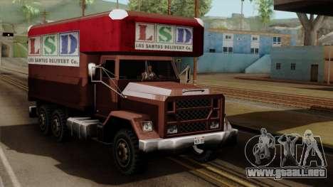 New Flatbed Industrial para GTA San Andreas