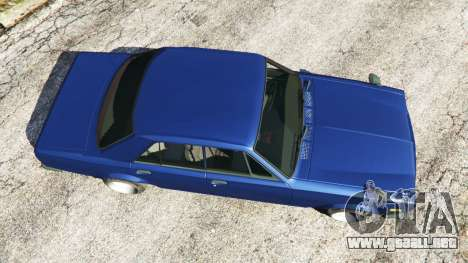 GTA 5 Nissan Skyline 2000 GT-R 1970 v0.2 [Beta] vista trasera