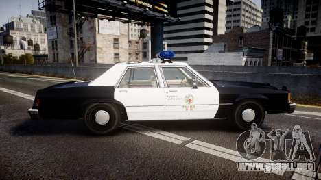 Ford LTD Crown Victoria 1987 LAPD [ELS] para GTA 4 left