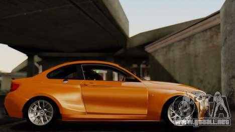BMW M235i F22 Sport 2014 para GTA San Andreas vista hacia atrás