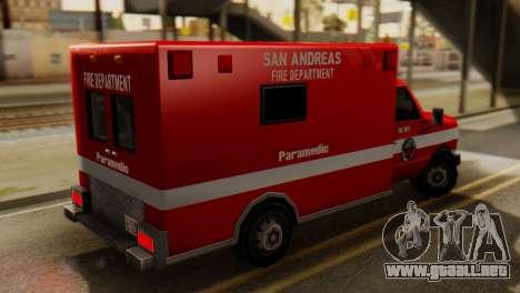SAFD Ambulance para GTA San Andreas left