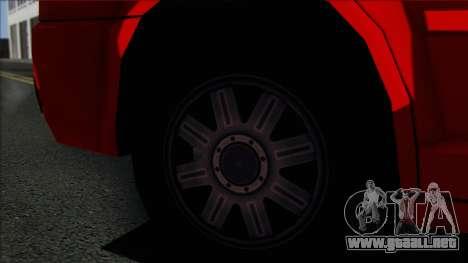 Chrysler 300C SA Style para GTA San Andreas vista posterior izquierda