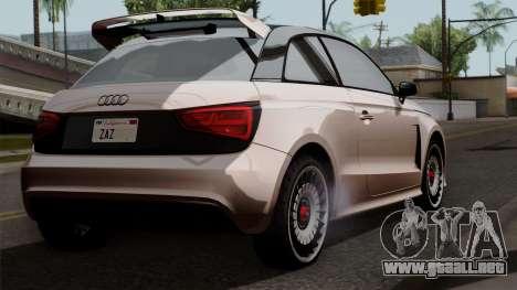 Audi A1 Quattro Clubsport para GTA San Andreas left