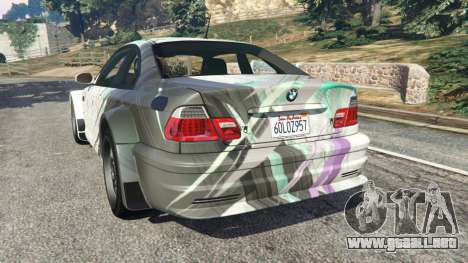 GTA 5 BMW M3 GTR E46 PJ2 vista lateral izquierda trasera
