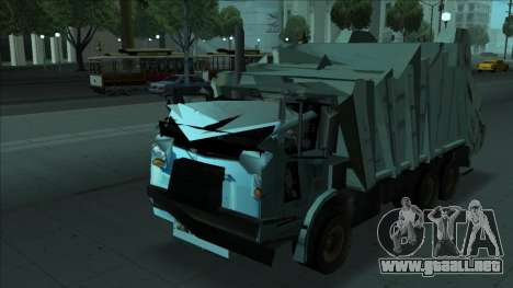 TDK Volvo Xpeditor Garbage Crash Version para GTA San Andreas vista hacia atrás