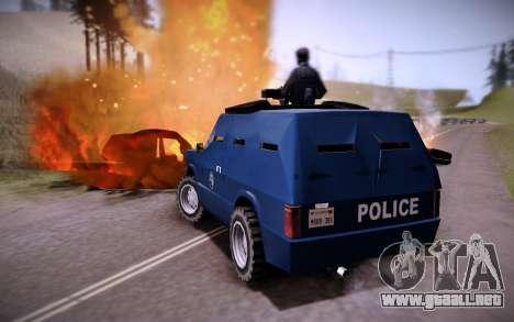 El Coche Blindado. para GTA San Andreas vista posterior izquierda