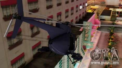 GTA 5 Buzzard para GTA San Andreas vista posterior izquierda