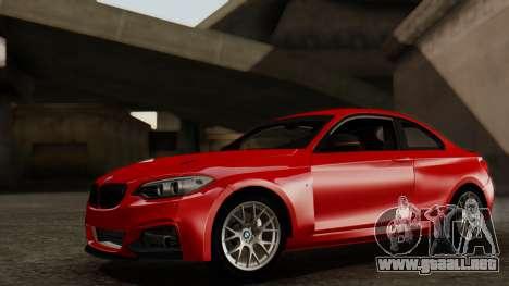 BMW M235i F22 Sport 2014 para visión interna GTA San Andreas