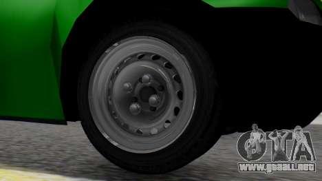Chevrolet Combo 1.4 v2 para GTA San Andreas vista posterior izquierda