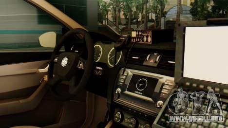 Skoda Octavia A7 Georgia Police para la visión correcta GTA San Andreas