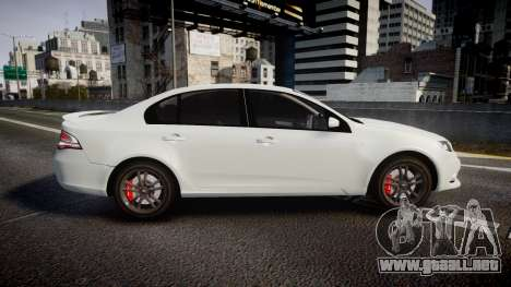 Ford Falcon FG XR6 Turbo Unmarked Police [ELS] para GTA 4 left