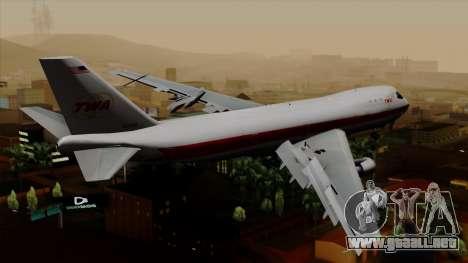 Boeing 747 TWA para GTA San Andreas left