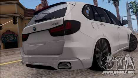BMW X5 F15 BUFG Edition para GTA San Andreas vista posterior izquierda