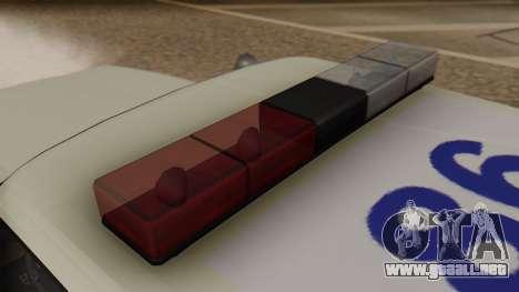 GTA 5 Albany Esperanto Police Roadcruiser para GTA San Andreas vista hacia atrás
