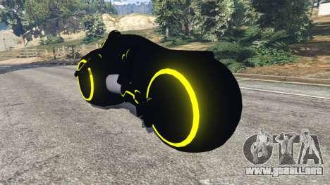 GTA 5 Tron Bike yellow vista lateral izquierda trasera