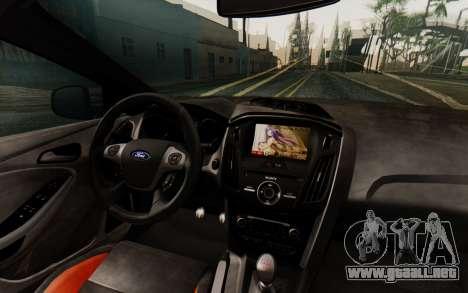 Ford Focus ST 2012 para visión interna GTA San Andreas