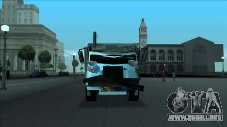 TDK Volvo Xpeditor Garbage Crash Version para la vista superior GTA San Andreas