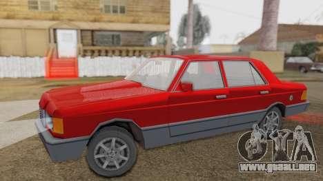 GS Wolhabend para GTA San Andreas vista posterior izquierda