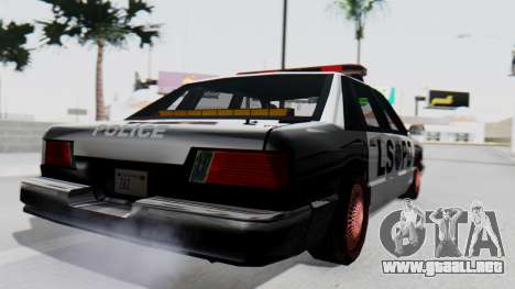 Police LS with Lightbars para GTA San Andreas left