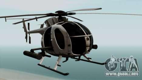 AH-6J Little Bird para GTA San Andreas vista hacia atrás