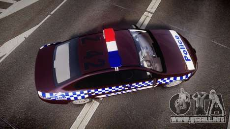 Ford Falcon FG XR6 Turbo NSW Police [ELS] v3.0 para GTA 4 visión correcta