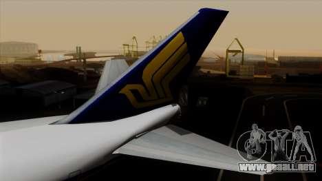 Boeing 747 Singapore (Old) para GTA San Andreas vista posterior izquierda