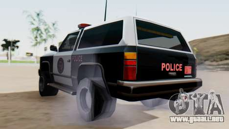 Police Ranger with Lightbars para GTA San Andreas left
