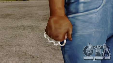 Original HD Brass Knuckle para GTA San Andreas tercera pantalla
