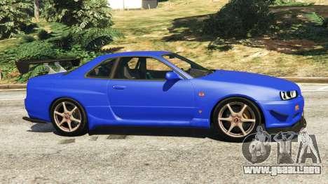 GTA 5 Nissan Skyline R34 GT-R 2002 v0.8 [Beta] vista lateral izquierda