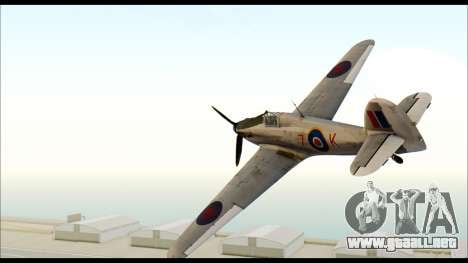 Hawker Hurricane MK IA para GTA San Andreas left