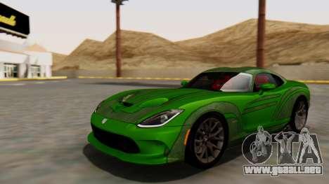 Dodge Viper SRT GTS 2013 HQLM (HQ PJ) para visión interna GTA San Andreas