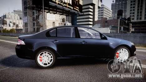 Ford Falcon FG XR6 Unmarked Police [ELS] v2.0 para GTA 4 left