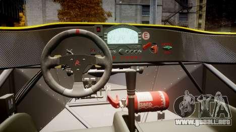 Radical SR8 RX 2011 [30] para GTA 4 vista hacia atrás