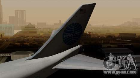 Boeing 747 PanAm para GTA San Andreas vista posterior izquierda