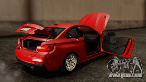 BMW M235i F22 Sport 2014 para vista inferior GTA San Andreas