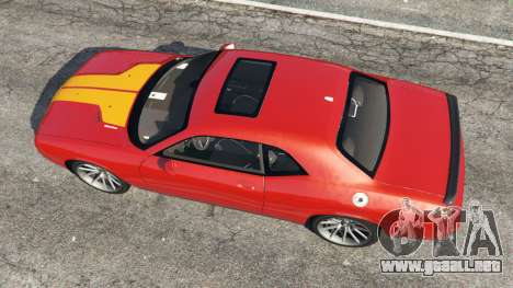GTA 5 Dodge Challenger SRT8 2009 v0.1 [Beta] vista trasera
