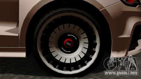 Audi A1 Quattro Clubsport para GTA San Andreas vista posterior izquierda