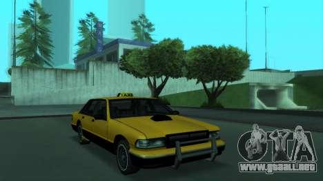 New Taxi para GTA San Andreas left